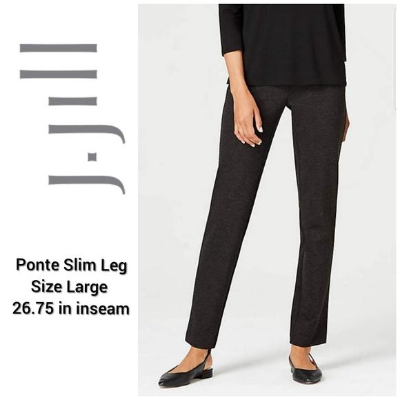62544662f09425 J. Jill Pants | Jjill Ponte Slim Leg Gray | Poshmark